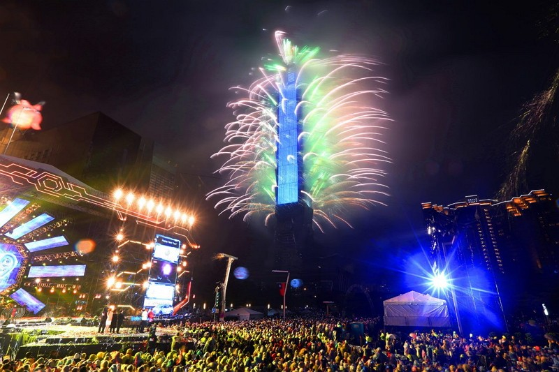 Taipei 101 fireworks (Taipei City Government photo)