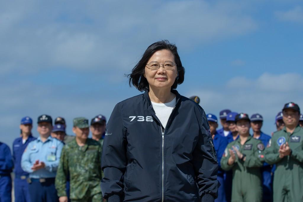 總統蔡英文今天兩度批韓說錯話。(中央社)