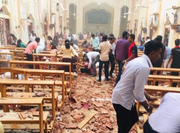 斯里蘭卡4/21多起爆炸(翻攝推特)