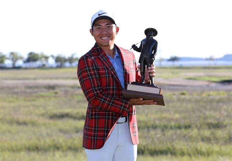 Taiwanese professional golfer Pan Cheng-tsung (潘政琮) win his first PGA Tour title at RBC Heritage (twitter.com/pgatour photo)
