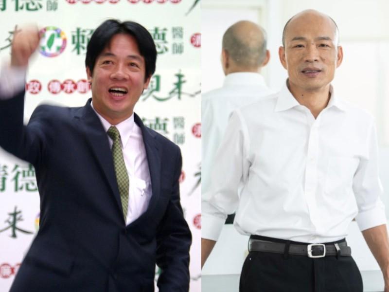 賴清德(左)民調勝過韓國瑜(右)(圖/官方臉書)