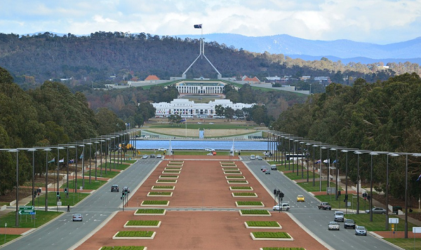 Australian Parliament, Canberra (photo from pixabay user pattyjansen)