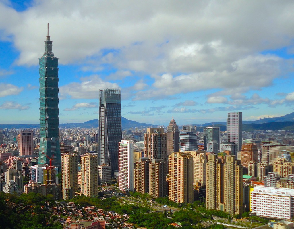 Taipei CBD skyline.