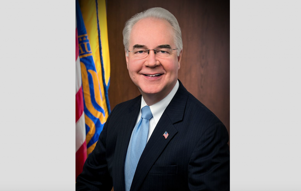 Former U.S. Secretary of Health and Human Services Tom Price (Image courtesy of Wikipedia)