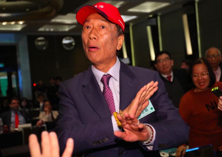 郭台銘宣布參選前買鴻海股票,綠委質疑涉違法