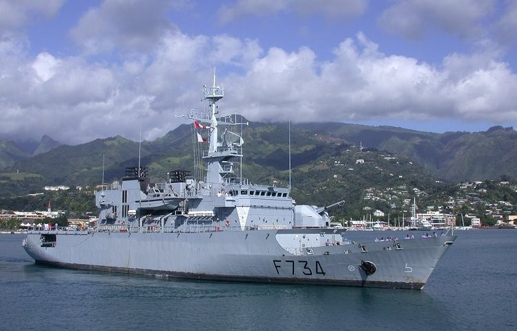 French frigate Vendemiaire.