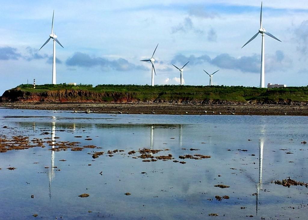 Wind turbines in Penghu.