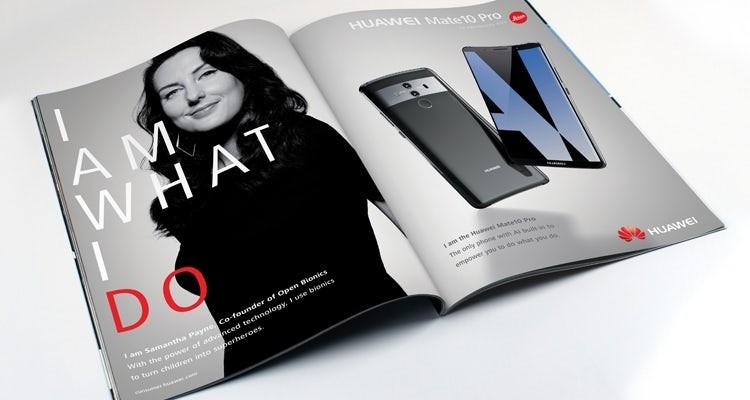 Huawei ad campaign. (Huawei photo)