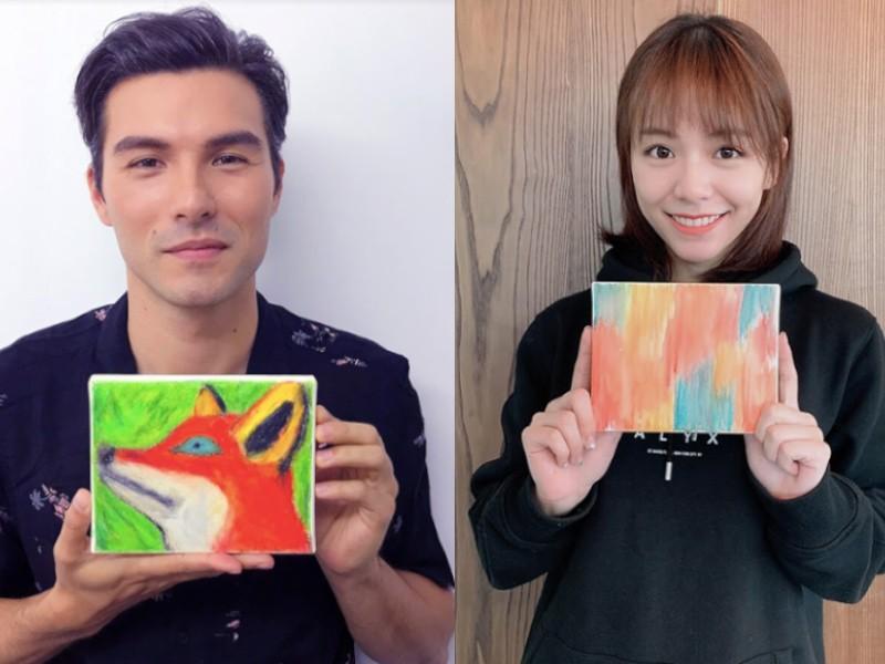 台北新藝術博覽會舉辦「藝出慈悲‧百大名人」慈善義賣活動(圖/主辦單位)
