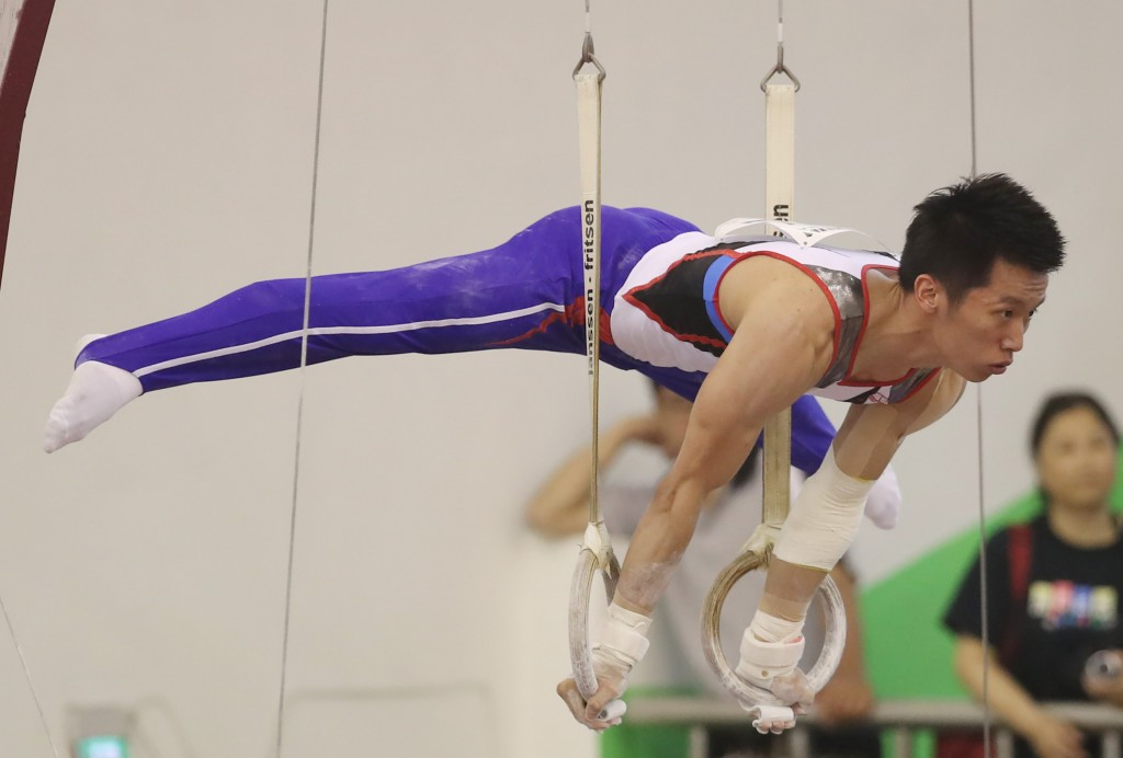 Lee Chih-kai at the 2019 National Intercollegiate Athletic Games in New Taipei City.