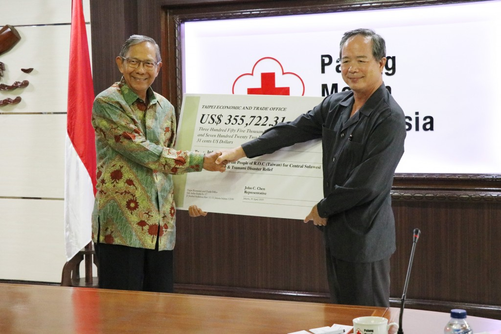 Taiwan gives more post-earthquake relief aid to Indonesia