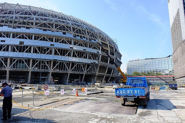 Taipei Dome under construction in 2015