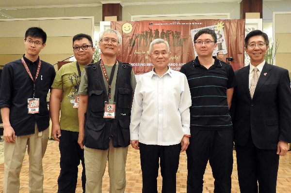 Taiwanese photographers with Taiwan envoy to Manila, Michael Peiyung Hsu, at the farewell dinner, May 1