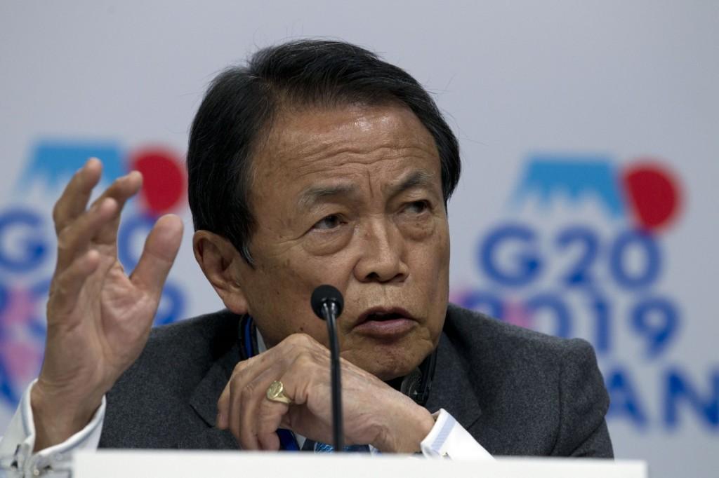 日本副首相兼財務大臣麻生太郎。(美聯社)