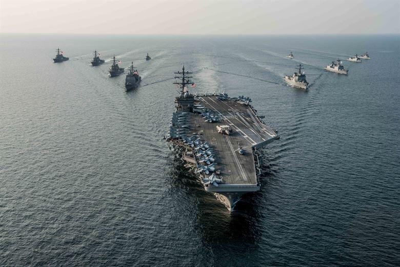 USS Ronald Reagan Carrier Strike Group (US Navy photo)
