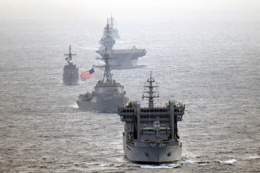 Philippines, US, Japan, India navies sail together in South China Sea