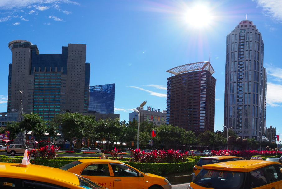 Sunny skies in New Taipei City.