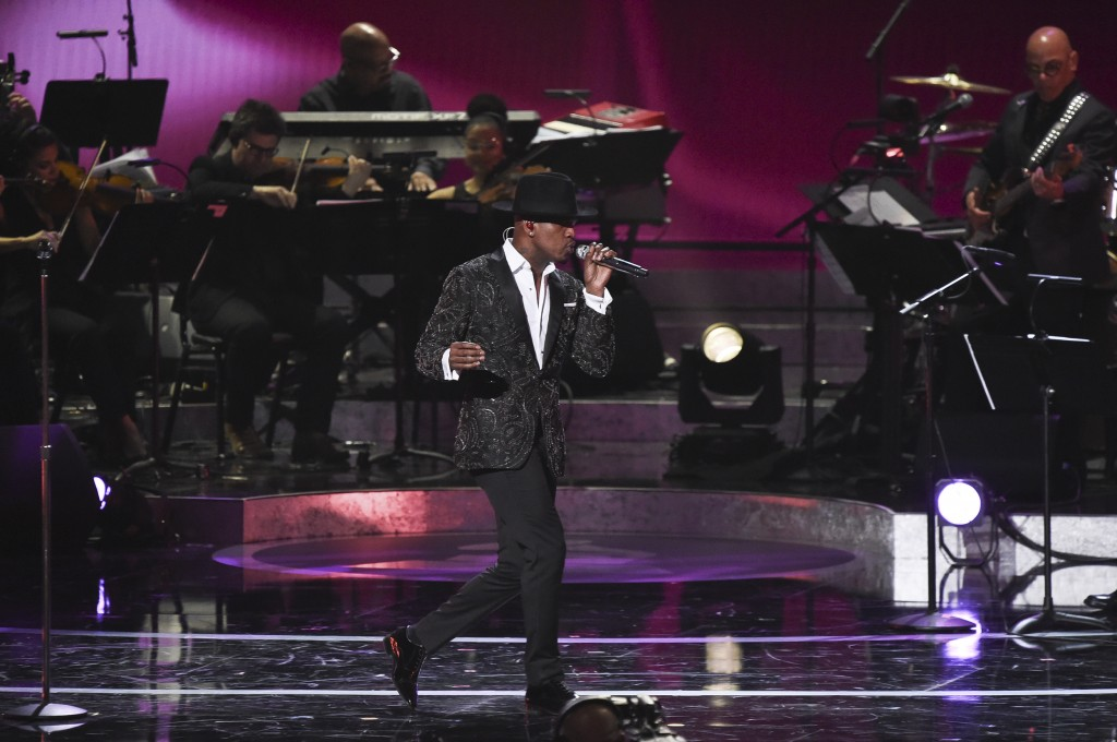 FILE - In this Feb. 12, 2019 file photo, Ne-Yo performs during Motown 60: A GRAMMY Celebration at the Microsoft Theater in Los Angeles. The pre-taped ...