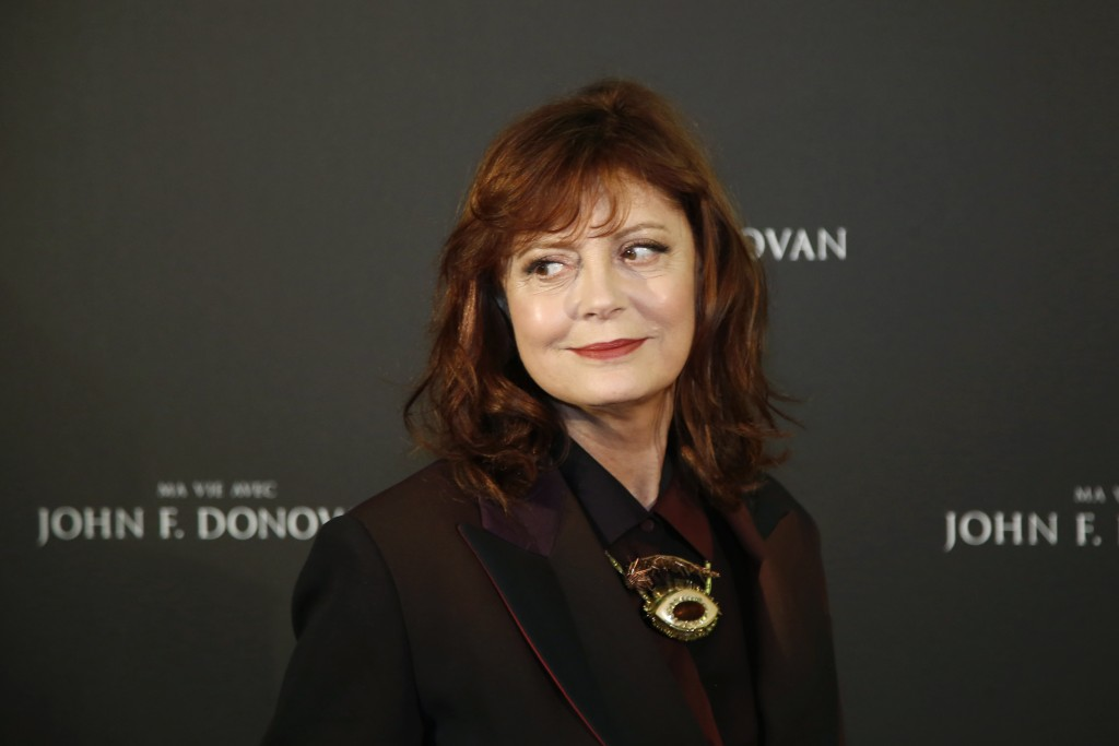 FILE - In this Feb. 28, 2019, file photo, actress Susan Sarandon poses for photographers at the photo call for the film 'The Death and Life of John F.