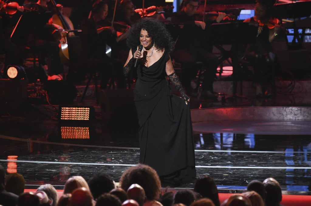 FILE - In this Feb. 12, 2019 file photo, Diana Ross performs during Motown 60: A GRAMMY Celebration at the Microsoft Theater in Los Angeles. Motown Re...