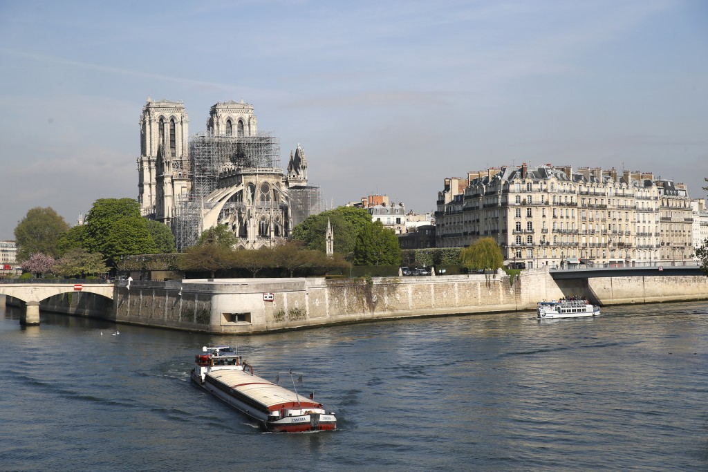 Notre Dame cathedral is pictured Wednesday, April 17, 2019 in Paris. Nearly $1 billion has already poured in from ordinary worshippers and high-powere