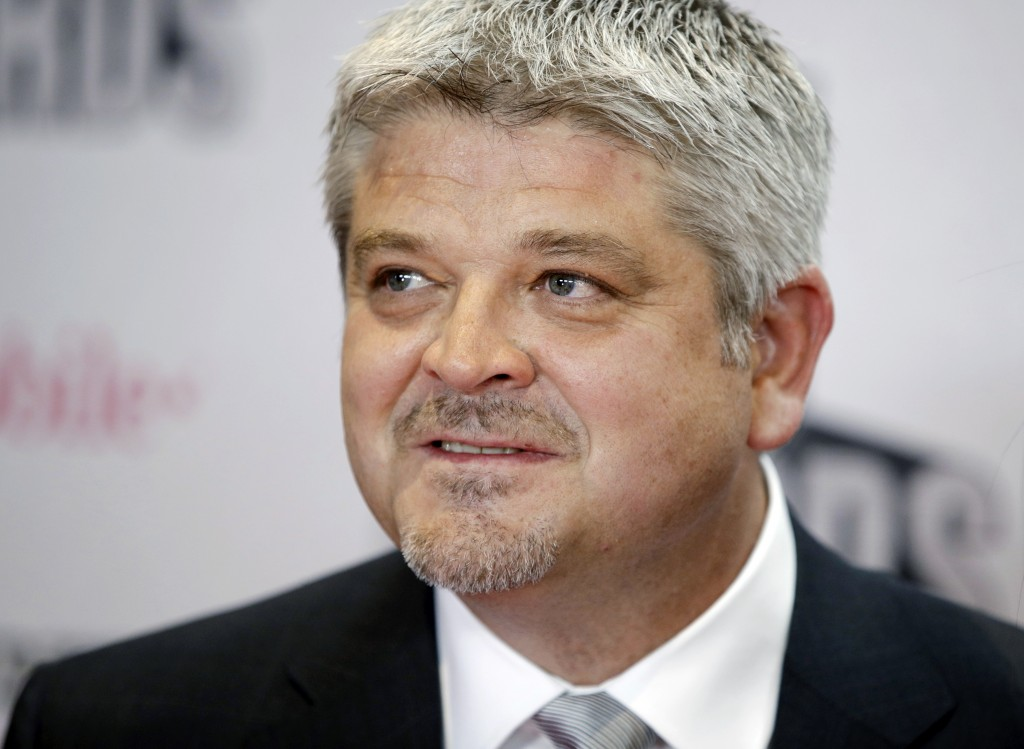 FILE - In this Wednesday, June 21, 2017, file photo, Edmonton Oilers coach Todd McLellan poses before the NHL Awards, in Las Vegas. On Tuesday, April