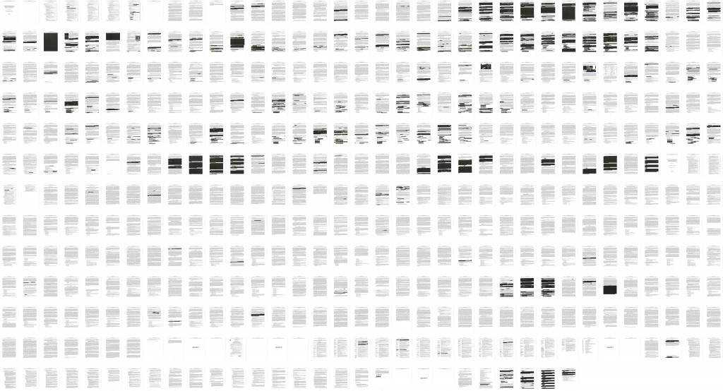 This combination of images shows the entire redacted report by special counsel Robert Mueller's released Thursday, April 18, 2019, by special Attorney