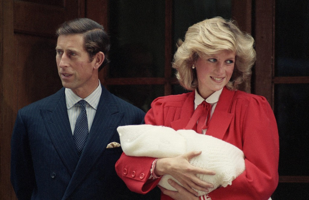 FILE - In this Sept. 16, 1984 file photo, the Prince and Princess of Wales, Prince Charles and Princess Diana leave St. Mary's Hospital in Paddington,...