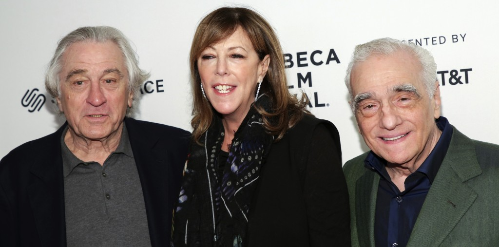 """Actor Robert De Niro, from left, co-founder, CEO, and executive chair of Tribeca Enterprises Jane Rosenthal, and director Martin Scorsese attend """"Trib"""