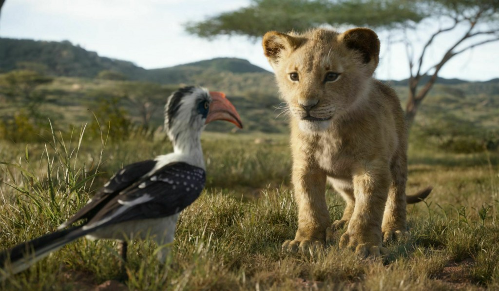 """This image released by Disney shows the characters Zazu, voiced by John Oliver, left, and Simba, voiced by JD McCrary, in a scene from """"The Lion King,..."""