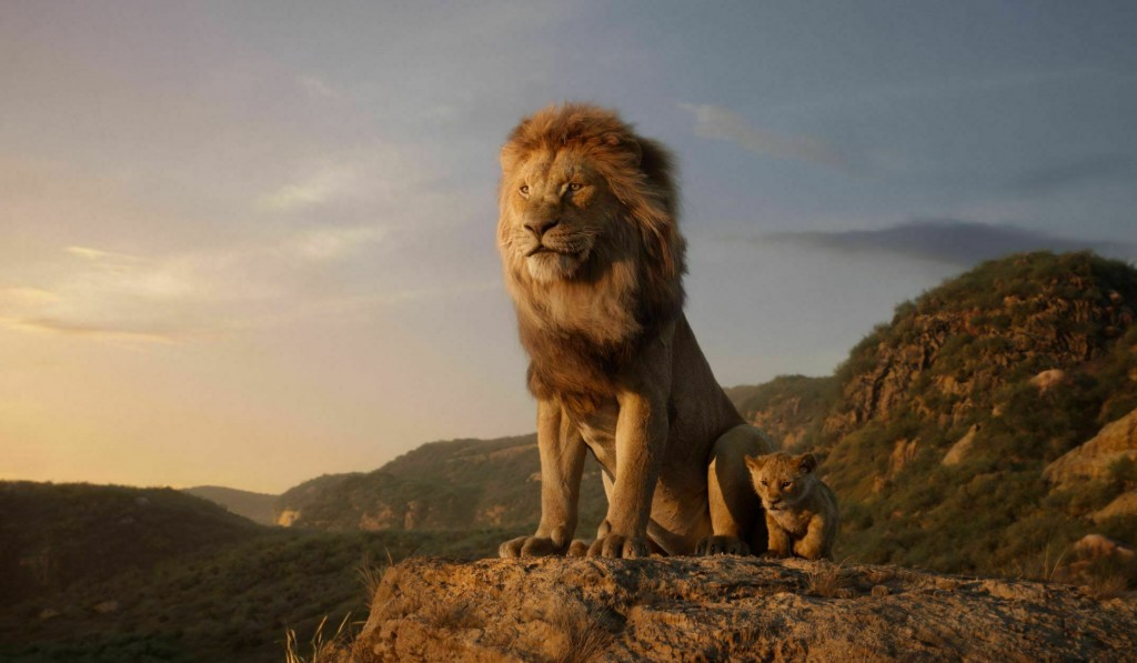 """This image released by Disney shows the characters Mufasa, voiced by James Earl Jones, left, and Simba, voiced by JD McCrary, in a scene from """"The Lio..."""
