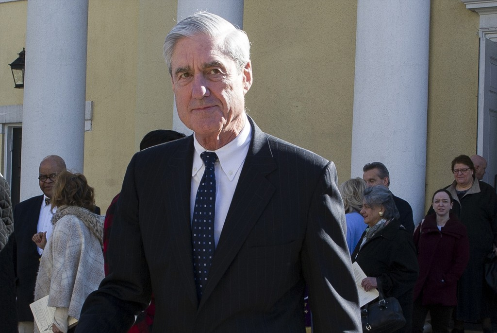 FILE - In this March 24, 2019, file photo, special counsel Robert Mueller departs St. John's Episcopal Church, across from the White House in Washingt...