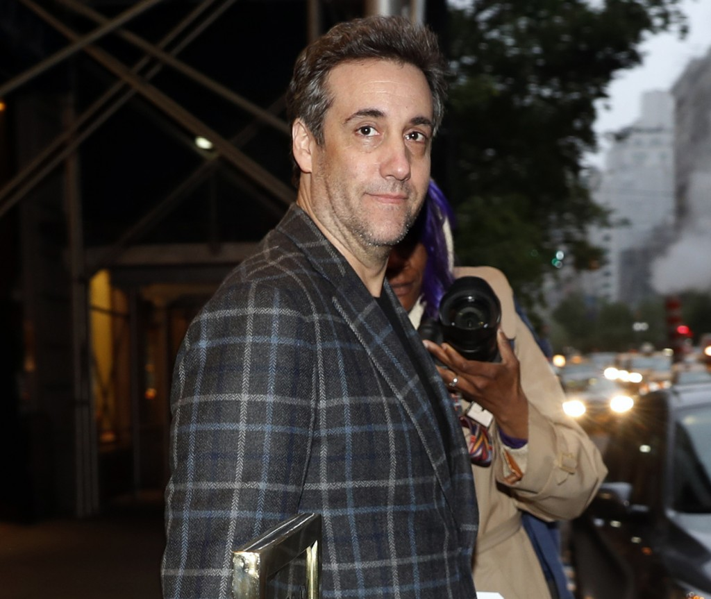 Michael Cohen, Donald Trump's former personal attorney, leaves his apartment, Friday, May 3, 2019, in New York. Cohen is scheduled to report to the Ot...