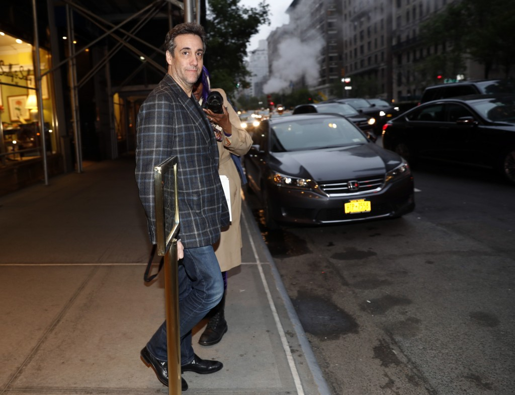 Michael Cohen, Donald Trump's former personal attorney, leaves his apartment, Friday, May 3, 2019, in New York. Cohen is scheduled to report Monday to...