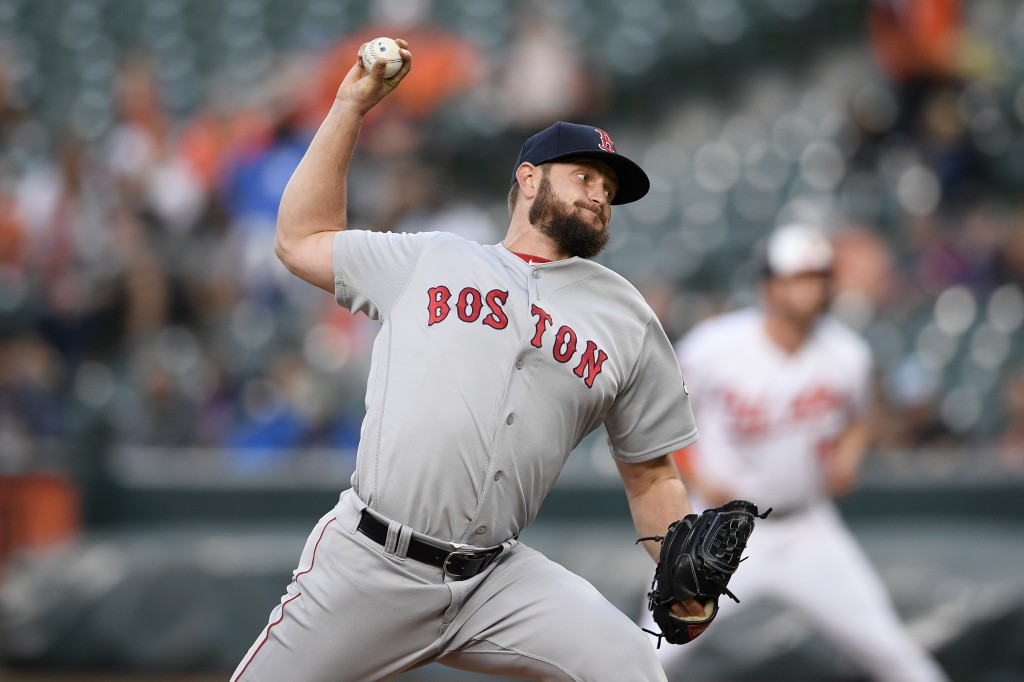 Boston Red Sox starting pitcher Josh Smith delivers during the first inning of a baseball game against the Baltimore Orioles, Monday, May 6, 2019, in ...