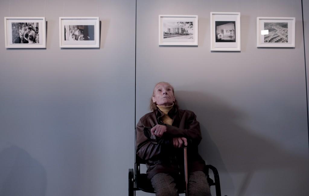 """Elena Valenti, a first cousin of Eva Perón, sits inside Perón's home-turned-museum """"Casa Museo Eva Perón"""" in Los Toldos, Argentina, Monday, May 6, 201"""