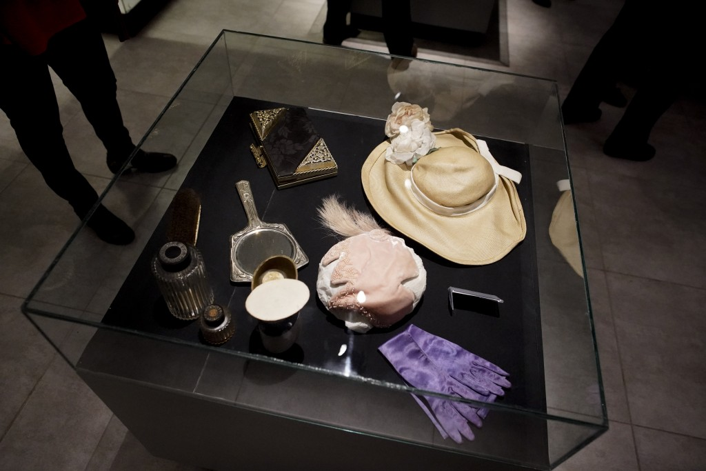 """Accessories that belonged to Eva Perón are displayed at the home-turned-museum """"Casa Museo Eva Perón"""" in Los Toldos, Argentina, Monday, May 6, 2019. O"""