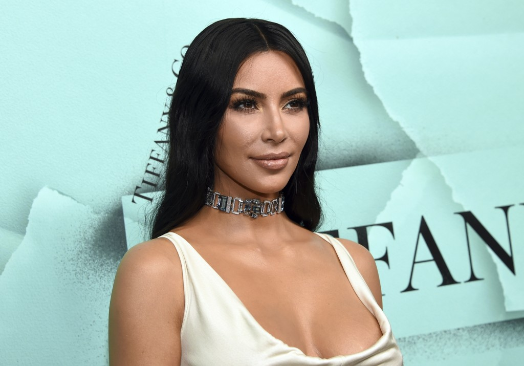 FILE - This Oct. 9, 2018 file photo shows Kim Kardashian West at the Tiffany & Co. 2018 Blue Book Collection: The Four Seasons of Tiffany celebration