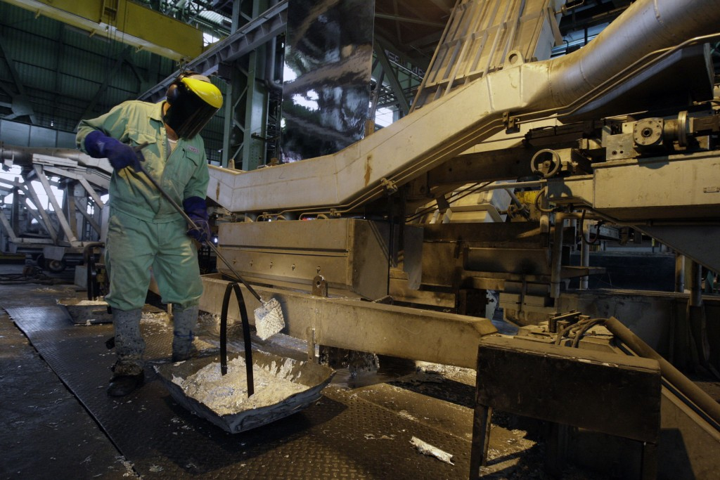 FILE - In this May 31, 2012 file photo, an Iranian worker works at the Mobarakeh Steel Complex, some 280 miles (460 kilometers) south of the capital T...
