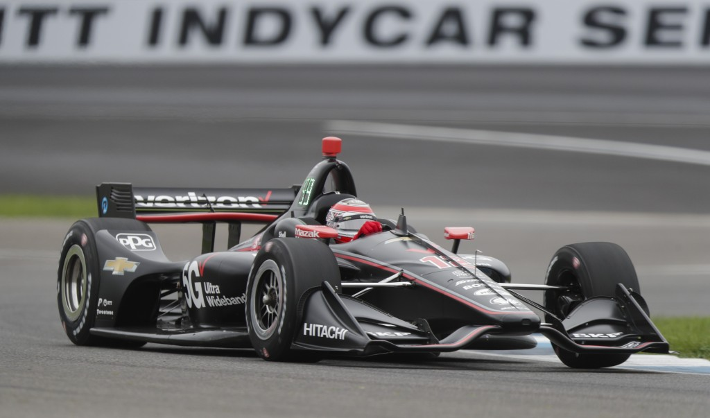 Will Power, of Australia, drives through a tune during practice for the Indy GP IndyCar auto race at Indianapolis Motor Speedway, Friday, May 10, 2019...