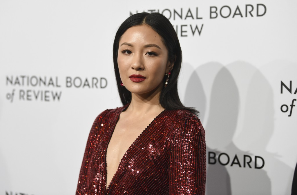 FILE - In this Tuesday, Jan. 8, 2019 file photo, actress Constance Wu attends the National Board of Review awards gala at Cipriani 42nd Street in New
