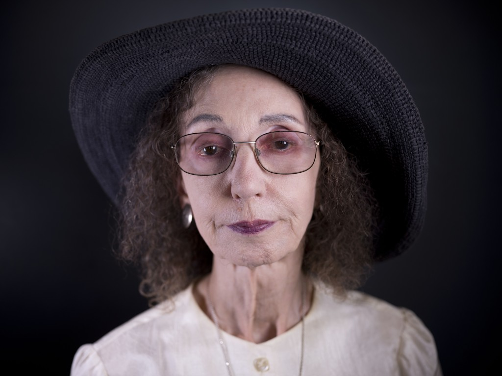 American author Joyce Carol Oates poses for a photo in Jerusalem, Sunday, May 12, 2019. Oates says her family's denial of its Jewish roots haunted her