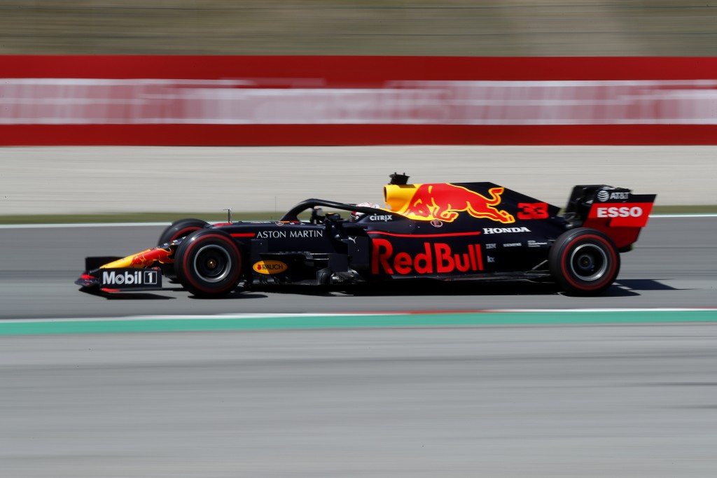 Red Bull driver Max Verstappen of the Netherland's steers his car during the Spanish Formula One race at the Barcelona Catalunya racetrack in Montmelo