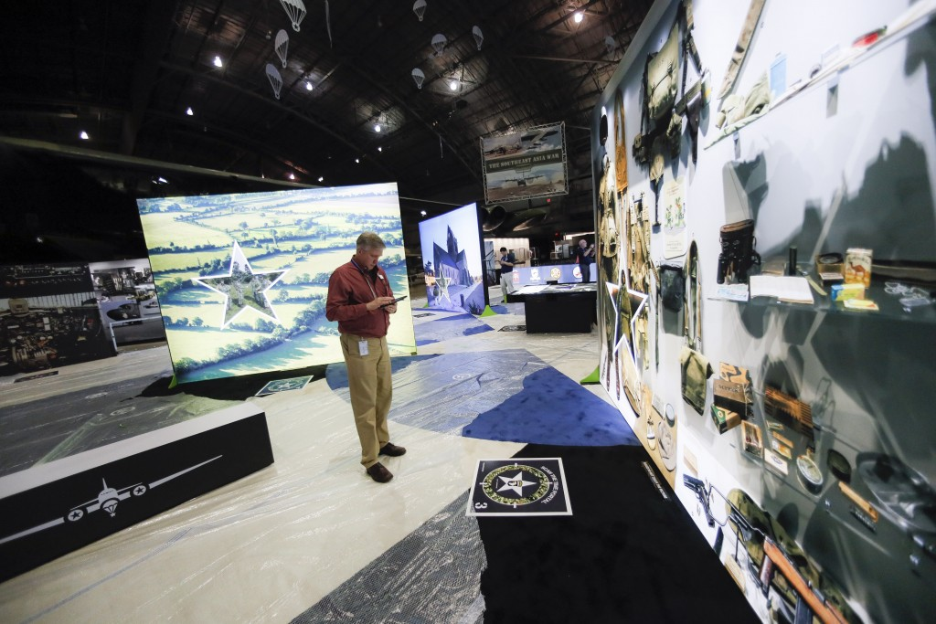 "Testing and final adjustments are made to the new ""D-Day: Freedom from Above"" interactive augmented reality exhibit at the National Museum of the U.S...."