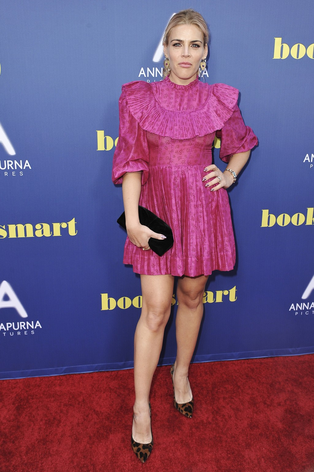 """Busy Philipps attends a special screening of """"Booksmart,"""" at the Theatre at Ace Hotel, Monday, May 13, 2019, in Los Angeles. (Photo by Richard Shotwel..."""