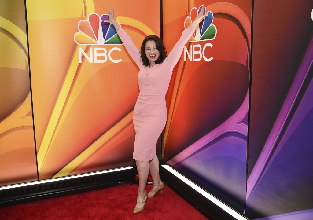 """Fran Drescher, from the cast of """"Indebted,"""" attends the NBC 2019/2020 Upfront at The Four Seasons New York on Monday, May 13, 2019. (Photo by Evan Ago..."""