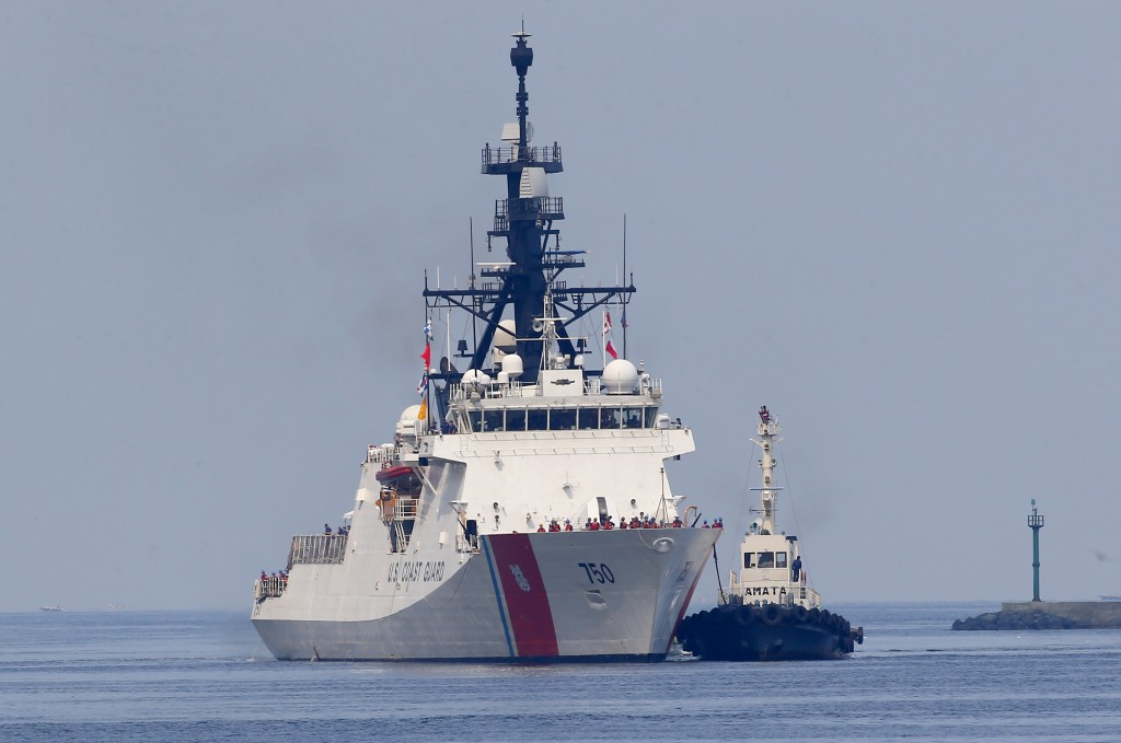 The U.S. Coast Guard National Security Cutter Bertholf (WMSL 750) arrives for a port call in the first visit by a U.S. cutter in over seven years, Wed...