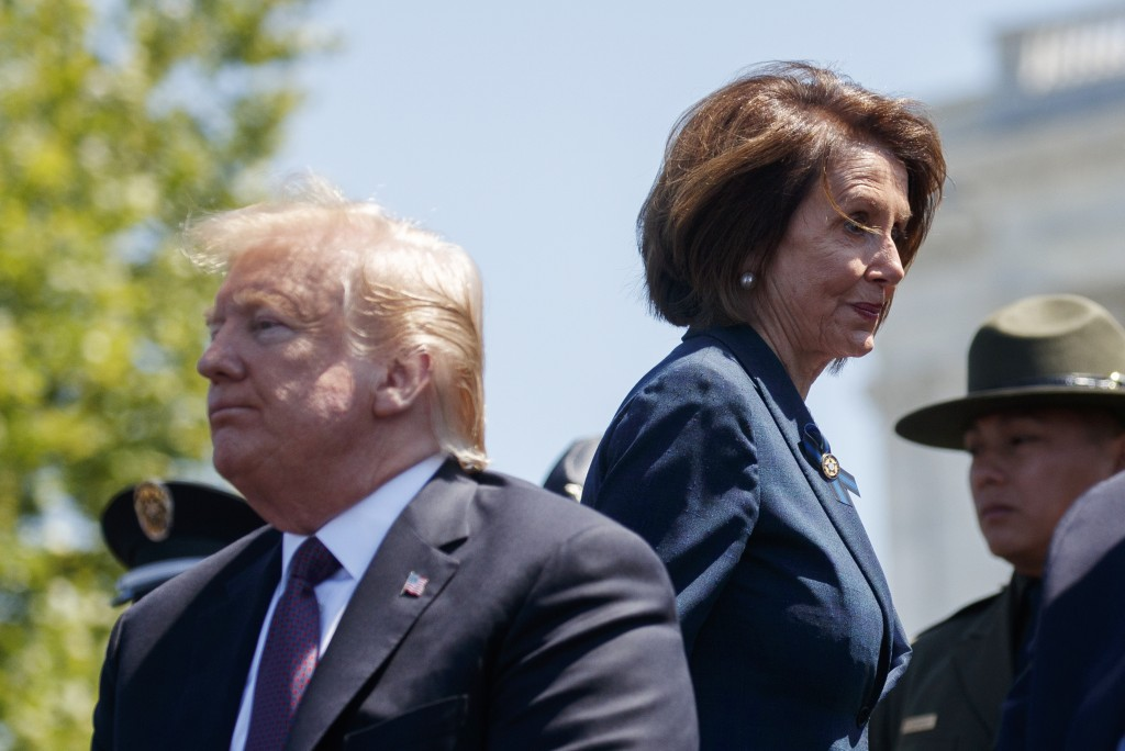 President Donald Trump and Speaker of the House Nancy Pelosi of Calif., attend the 38th Annual National Peace Officers' Memorial Service at the U.S. C