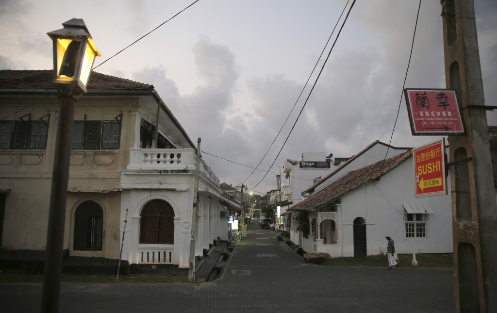 In this Friday, May 10, 2019, photo, a street that is usually crowded with tourists is seen empty in Galle, Sri Lanka. Sri Lanka was the Lonely Planet...