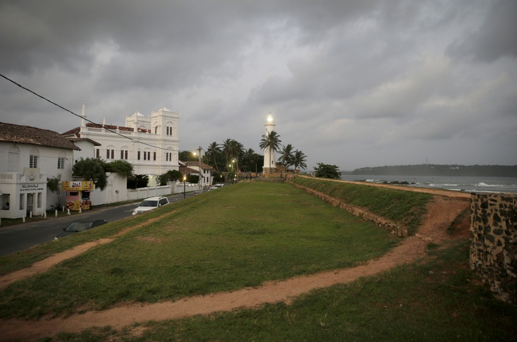 In this Friday, May 10, 2019, photo, the 17th century built Dutch fort, which was a popular tourist site, stands empty in Galle, Sri Lanka. Sri Lanka